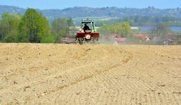 poljoprivreda, sjetva, polje, traktor