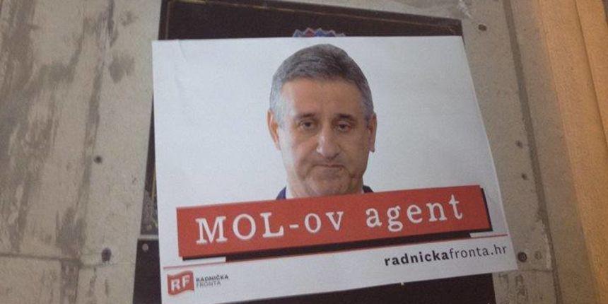 Radnička fronta u akciji: plakatima protiv Karamarka traže zabranu HDZ-a