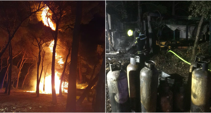 FOTO U Rovinju potpuno izgorio ugostiteljski objekt: Policija sumnja da je požar podmetnut