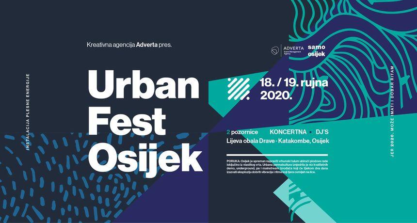 Urban fest Osijek 2020. u rujnu unatoč svim izazovima