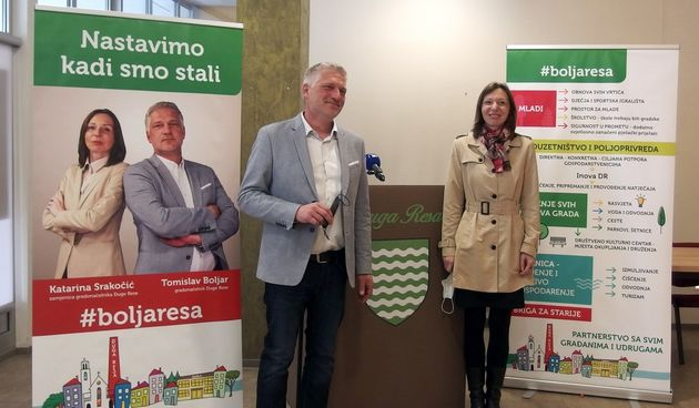 Tomislav Boljar (HSS) i Katarina Srakočić (SDP) traže povjerenje Dugorešana za još jedan mandat: Nastavljamo kadi smo stali