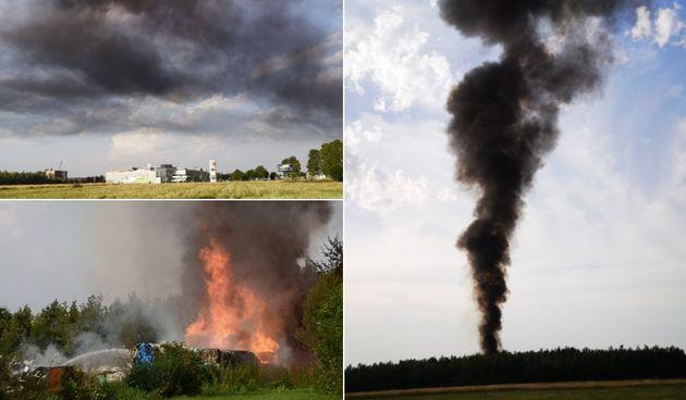 Crni dim nad Osijekom: Vatrogasci se bore s velikom vatrom