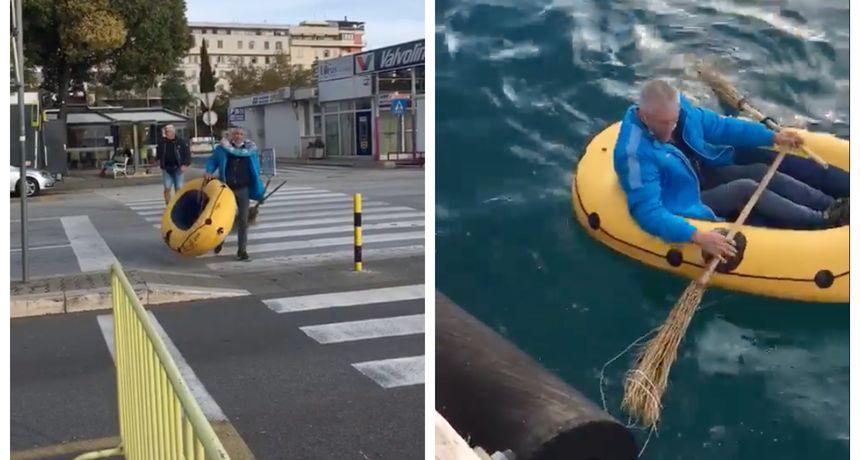 Samo u Dalmaciji: Pogledajte urnebesno 'porinuće' broda u gradskoj luci
