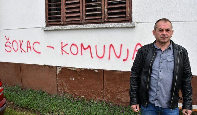 Načelniku Davoru Petriku sprejem išarana kuća i izbušene gume