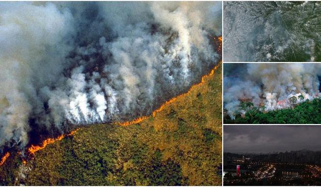 Amazona, požar, vatra, dim, opasnost