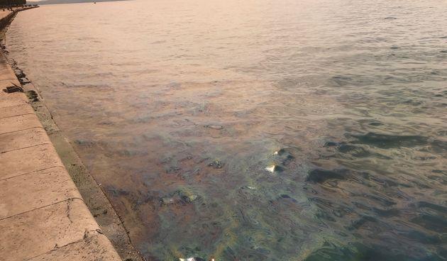 Onečišćenje mora: Velika naftna mrlja od mula do bivšeg hotela Zagreb