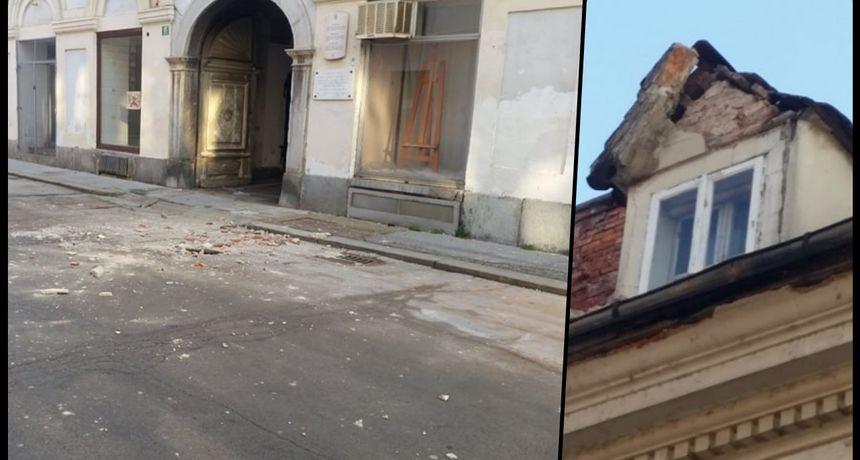 Devastirana palača u Radićevoj prijeti prolaznicima ali i stanarima - noćas s nje letio dio krova, srećom nitko nije stradao