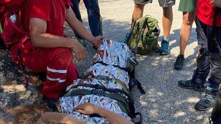 Brza intervencija HGSS-a spasila ženu koja je pala nakon što joj se pod nogama odronio dio staze