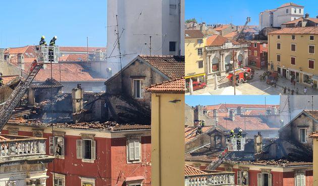 Zadar, požar