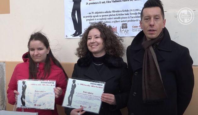'MLADI KRLEŽA' Dobitnica nagrade prvog književnog natječaja je Kristina Slunjski