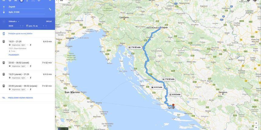 Vozni red HŽ-a dostupan na Google Maps - HrTurizam