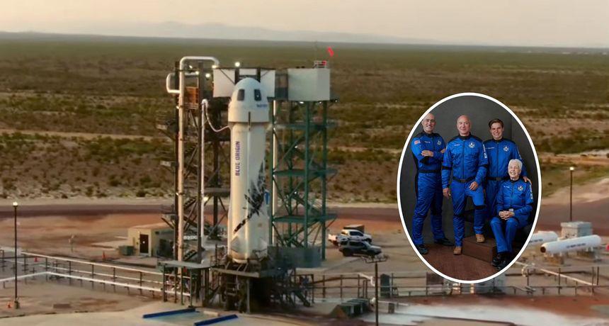 VIDEO Najbogatiji čovjek svijeta Jeff Bezos došao do ruba svemira i uspješno sletio natrag na Zemlju