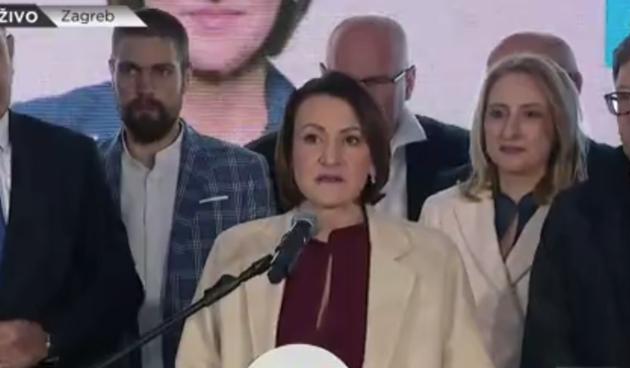 Jelena Pavičić Vukićević komentirala rezultate: 'Ujutro ću se posebno obratiti javnosti za drugi krug'