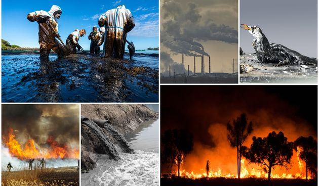 ekocid eko katastrofe kolaž