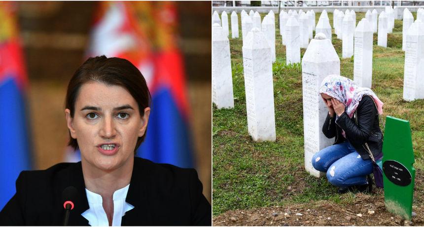 Ana Brnabić ne namjerava ići u Srebrenicu: 'Moramo se prestati vraćati na nesporazume iz prošlosti'