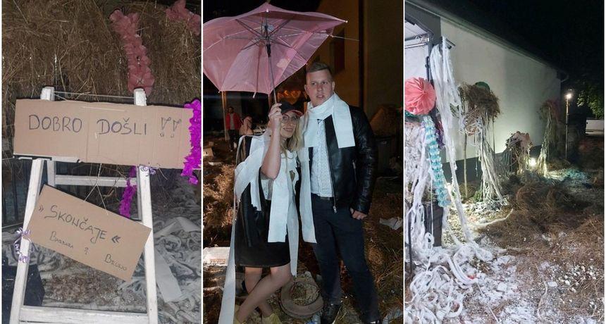 FOTO Potepanje u Ivanovcu: Žene se Barbara Fučec i Bruno Borović