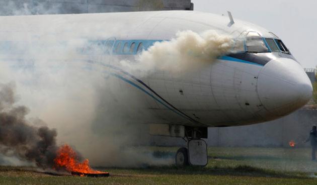 Avion, zrakoplov, požar