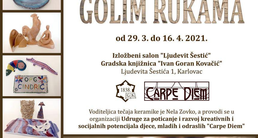 Dvije izložbe radova u keramici otvorene u knjižnici - jedna Nele Zovko, a druga polaznika njenog tečaja keramike