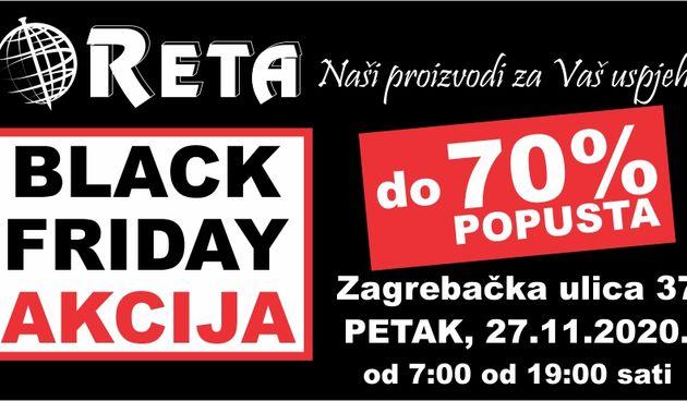 Black Friday akcija u RETI: Potražite odlične popuste do nevjerojatnih - 70%.