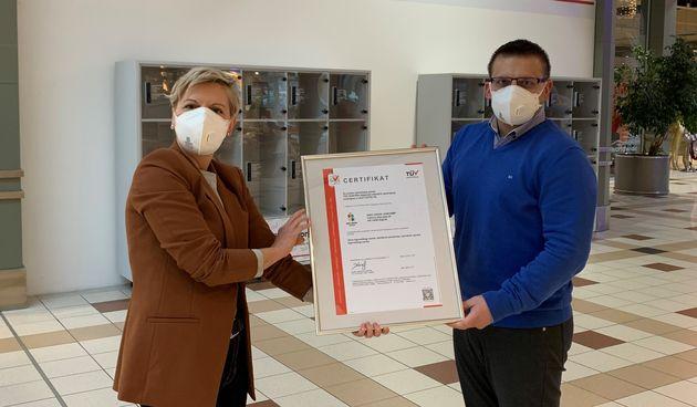 King Cross Jankomir prvi trgovački centar u Zagrebu certificiran za upravljanje higijenom od strane TÜV AUSTRIA