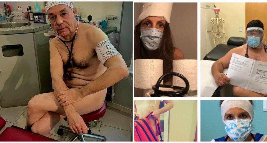 FOTO Njemački liječnici poziraju goli jer im nedostaje zaštitne opreme u borbi s koronavirusom