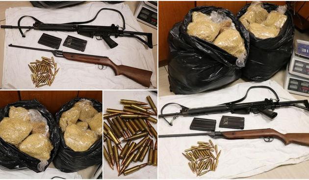 Policija u Gornjem Hrašćanu kod mladića pronašla pušku, streljivo, 28 kilograma duhana...