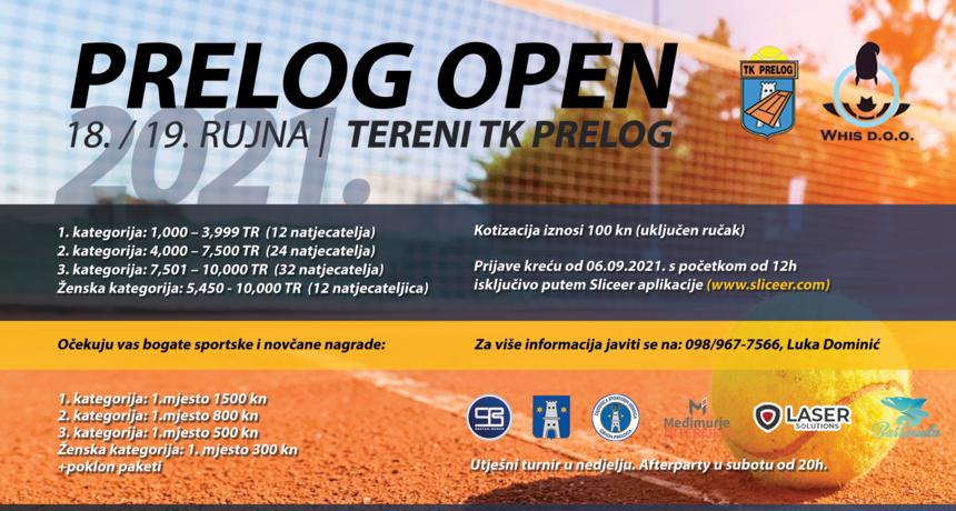 TRAJU PRIJAVE U Prelogu će se održati teniski turnir prilagođen svim kategorijama tenisača