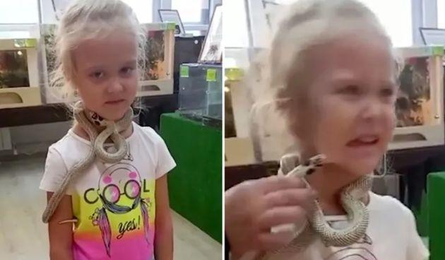 djevojčica, zmija