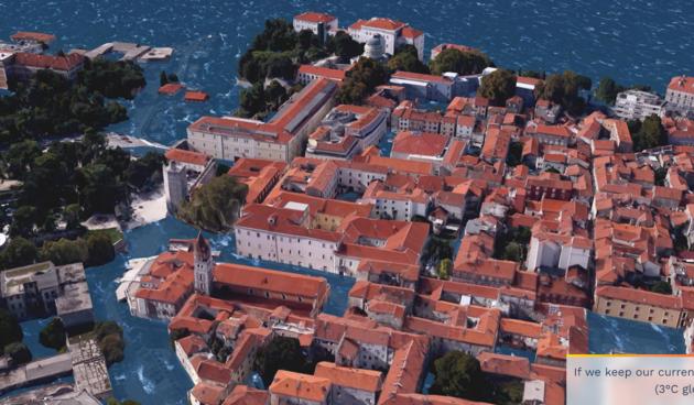 Zadar pod vodom 2050.