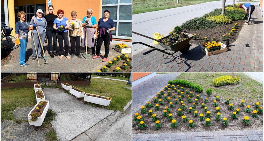 FOTO Članice udruge Brest cvijećem ukrasile svoj Podbrest