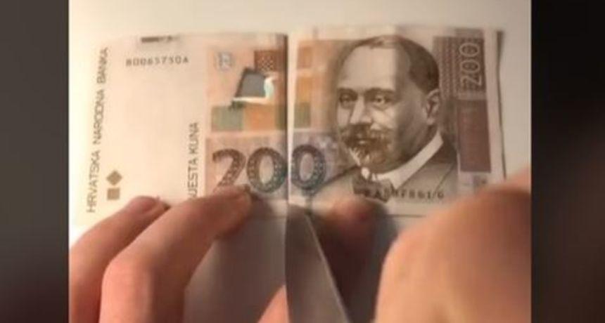 Novi TikTok izazov, priključili se i Hrvati: 'Režu' novčanice uz poruku da nije sve u parama