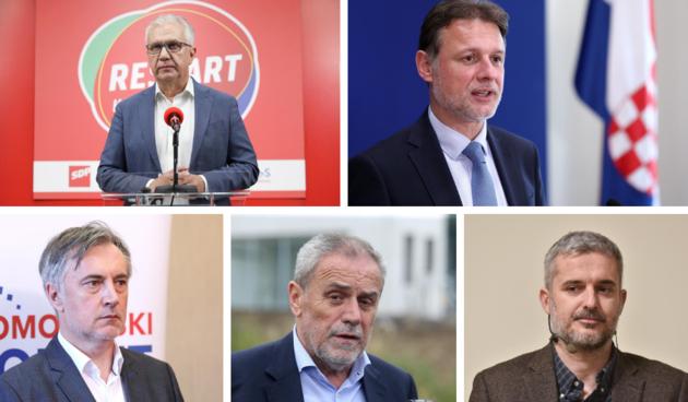 Rajko Ostojić,Gordan Jandroković,Miroslav Škoro, Milan Bandić, Nino Raspudić