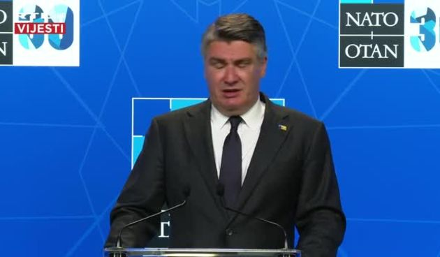 Izjava predsjednika Zorana Milanovića nakon NATO summita u Bruxellesu (thumbnail)