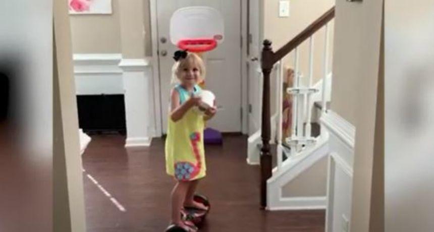 Kao profesionalka: Malena 4-godišnjakinja igra košarku bolje od mnogih sportaša