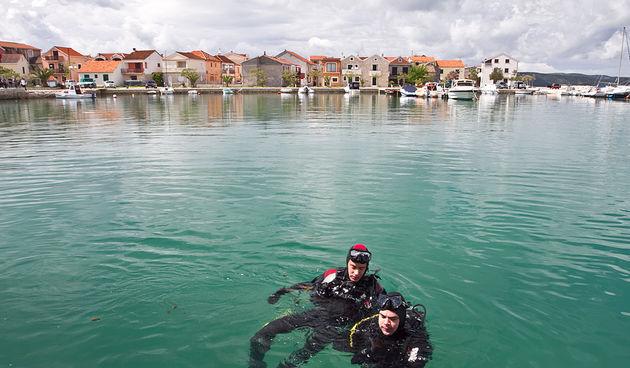 Vježba spašavanja u uvali Jaz, foto: Leo Banić