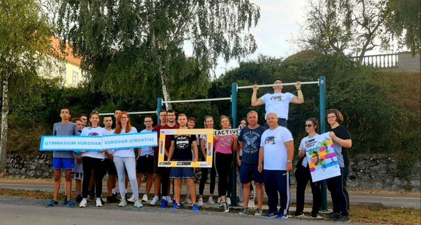 """Pod sloganom """"Sve za zdravlje – zdravlje do svih"""" Gimnazija Vukovar obilježila Europski tjedan sporta 2020."""