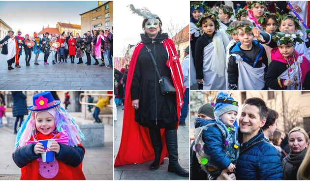 Maskirani mališani Dječjeg vrtića Cipelica mamili poglede u centru Čakovca
