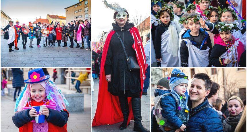 VIDEO I FOTO Maskirani mališani Dječjeg vrtića Cipelica mamili poglede u centru Čakovca