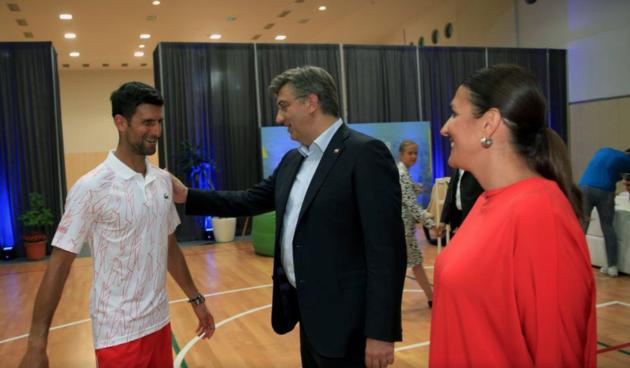 Andrej Plenković, Novak Đoković